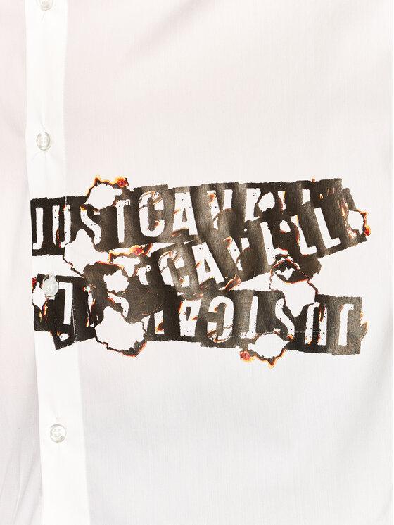 Just Cavalli Just Cavalli Риза S03DL0286 Бял Regular Fit