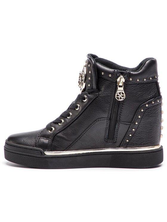 Guess Guess Sneakersy Finer2 FL5FR2 LEA12 Czarny