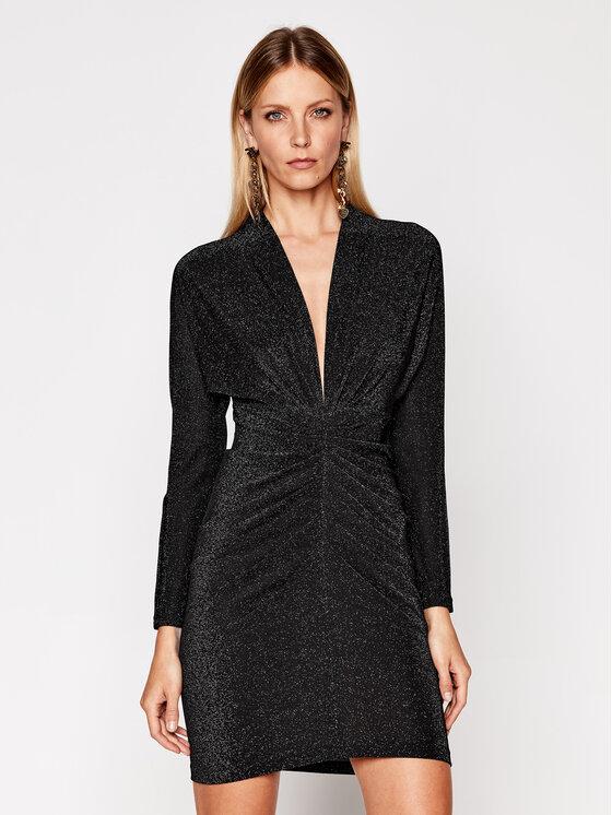 IRO Kokteilinė suknelė Riga AN078 Juoda Regular Fit