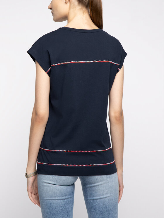 Tommy Hilfiger Tommy Hilfiger T-Shirt WW0WW25351 Dunkelblau Regular Fit