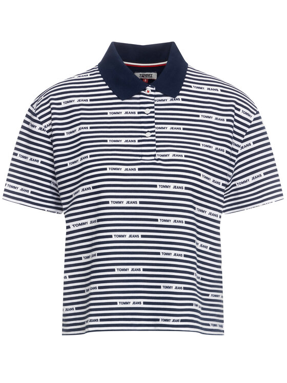 Tommy Jeans Tommy Jeans Tricou polo Stripe DW0DW07643 Bleumarin Oversize
