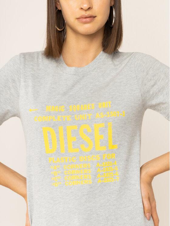 Diesel Diesel Póló T-Sily-Zf 00SYVT 0091A Szürke Regular Fit