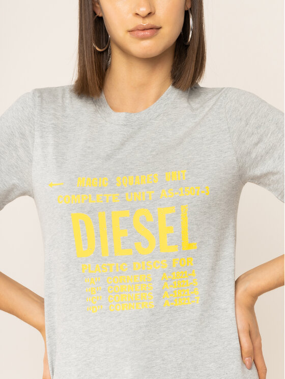 Diesel Diesel Тишърт T-Sily-Zf 00SYVT 0091A Сив Regular Fit
