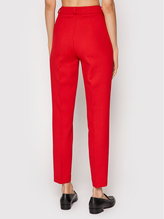 Rage Age Rage Age Spodnie materiałowe Piper 2 Czerwony Slim Fit