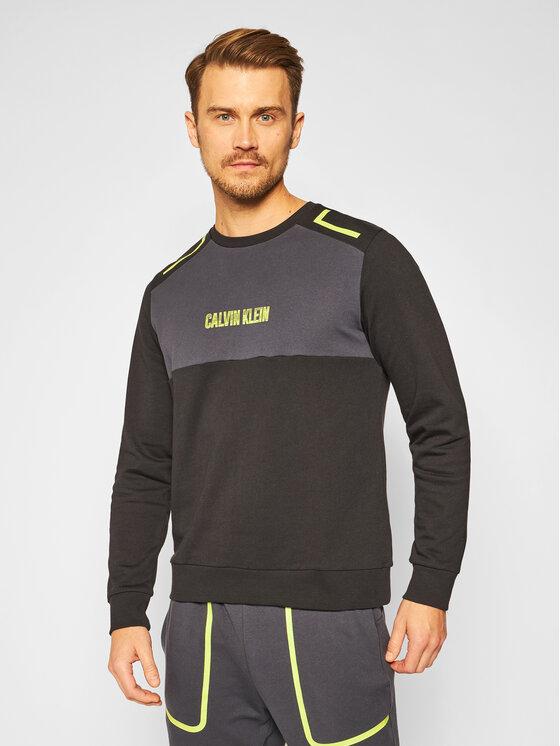 Calvin Klein Performance Džemperis 00GMF0W394 Juoda Regular Fit