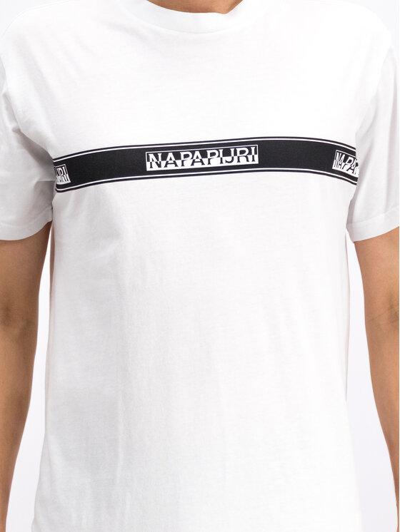 Napapijri Napapijri T-Shirt Sagar N0YHUD Bílá Regular Fit