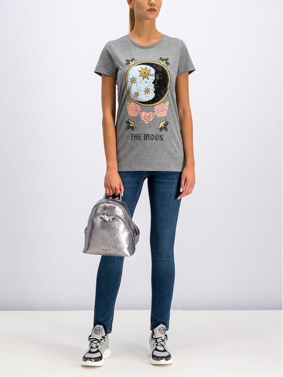 Silvian Heach Silvian Heach T-shirt CVA19387TS Gris Regular Fit