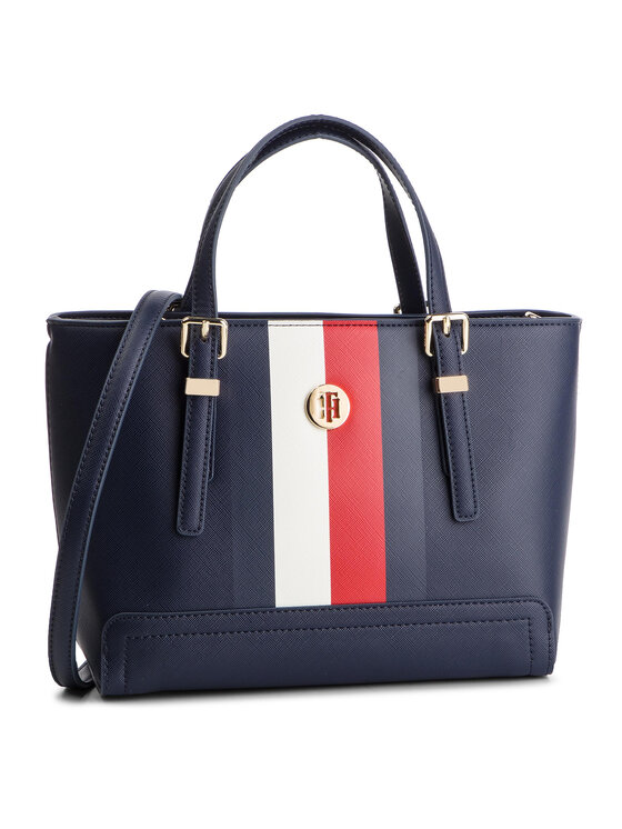 Tommy Hilfiger Tommy Hilfiger Torebka Honey Small Tote Corp AW0AW06866 Granatowy