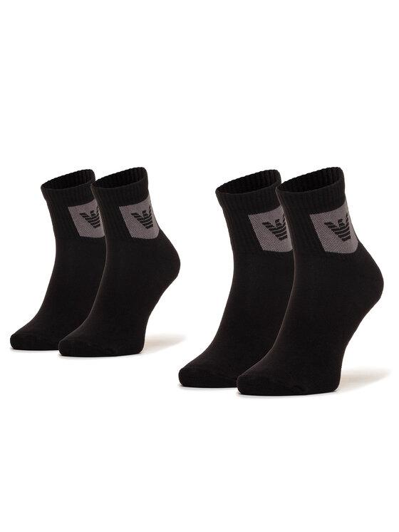Emporio Armani Emporio Armani Комплект 2 чифта къси чорапи мъжки 303222 0A300 00321 r.Uni Черен