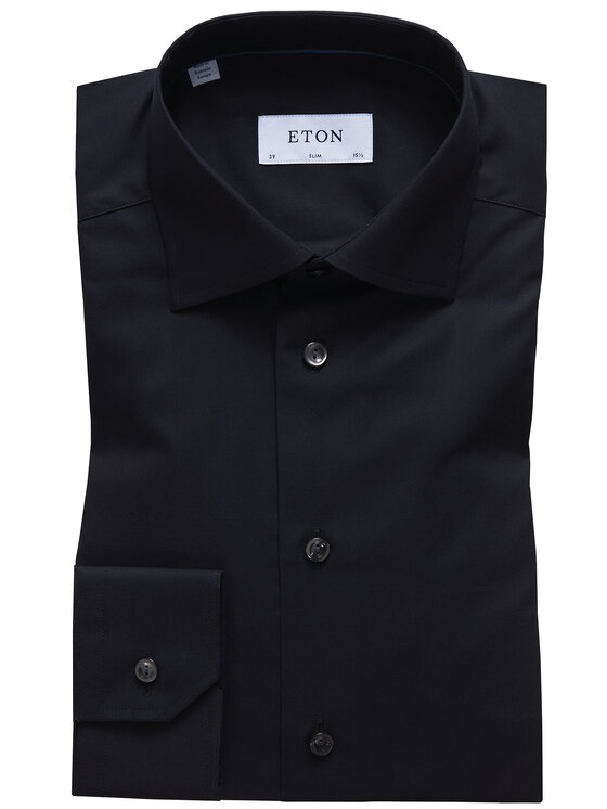 Eton Eton Koszula 354879511 Czarny Slim Fit