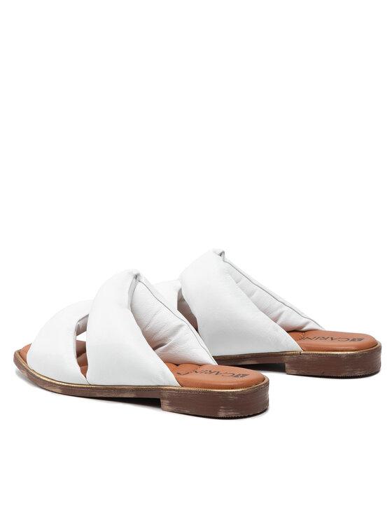 Carinii Carinii Klapki B6125 Biały