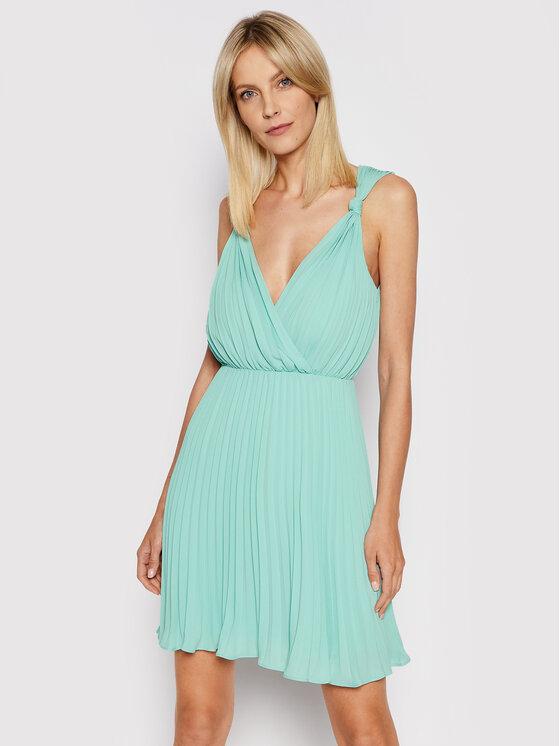 Marciano Guess Kokteilinė suknelė 1GG778 8592Z Žalia Regular Fit