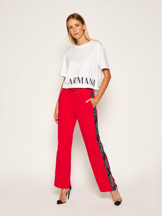 Armani Exchange Armani Exchange T-Shirt 6HYTFS YJX5Z 1000 Bílá Regular Fit