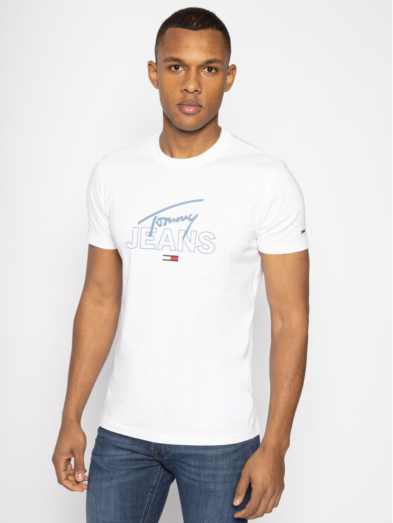 Tommy Jeans Tommy Jeans Тишърт Script DM0DM07011 Бял Regular Fit
