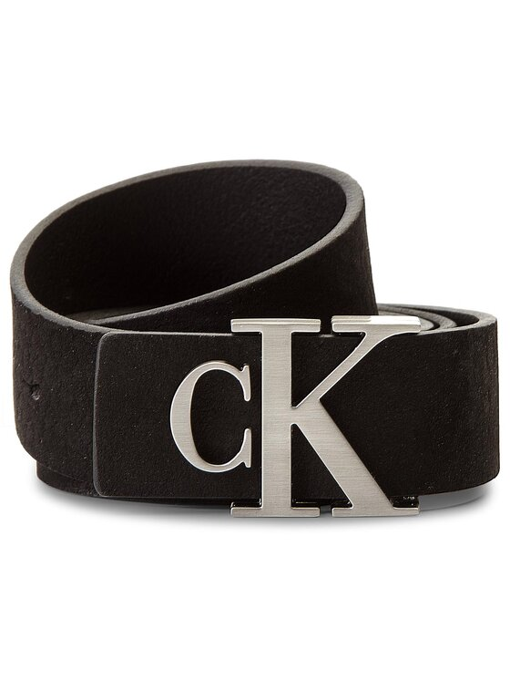 Calvin Klein Calvin Klein Moteriškas Diržas J Monogram Leather B K60K604391 Juoda