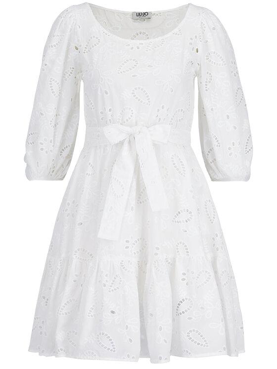 Liu Jo Liu Jo Sukienka letnia F19388 T4040 Biały Relaxed Fit