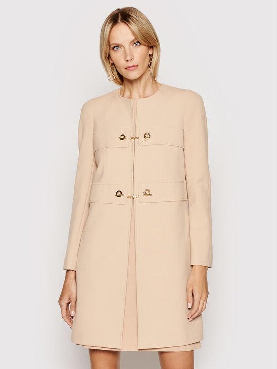 Rinascimento Demisezoninis paltas CFC0102462003 Rožinė Regular Fit