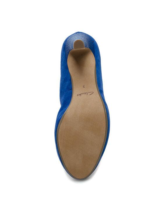 Clarks Clarks Обувки на ток Carrick Tangle 20358577194 Син