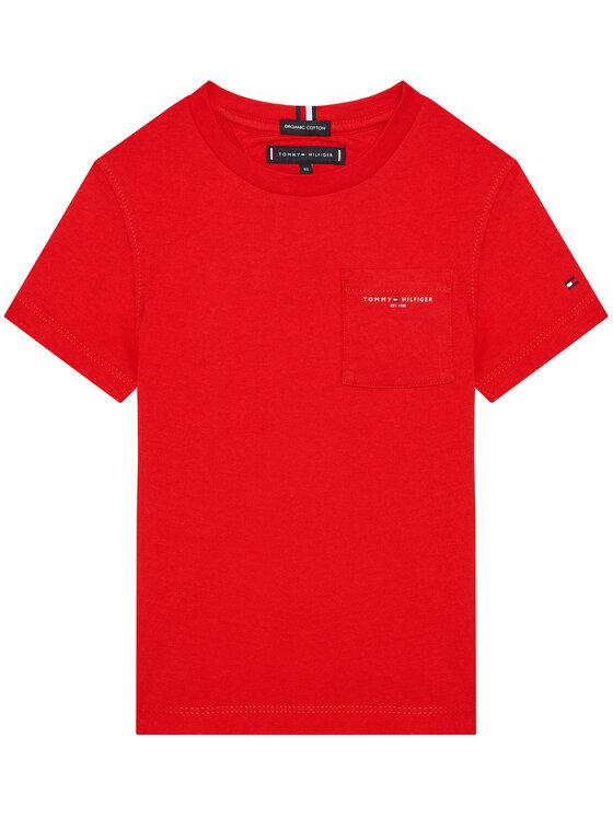 Tommy Hilfiger Tommy Hilfiger T-Shirt Essential Pocket KB0KB06556 D Czerwony Regular Fit