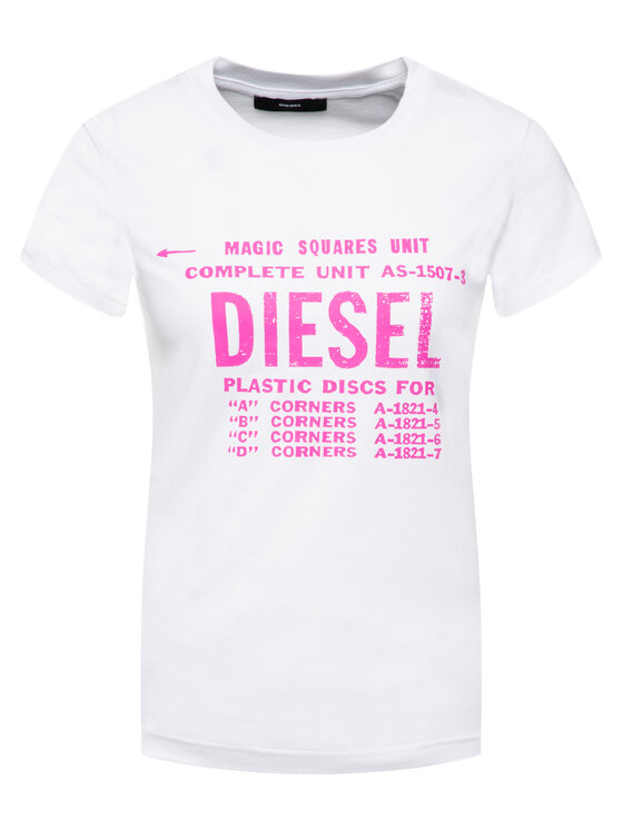 Diesel Diesel Тишърт T-Sily-Zf 00SYVT 0091A Бял Regular Fit