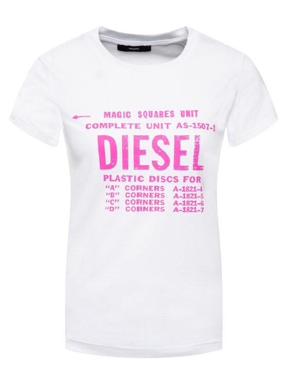Diesel Diesel Tričko T-Sily-Zf 00SYVT 0091A Biela Regular Fit