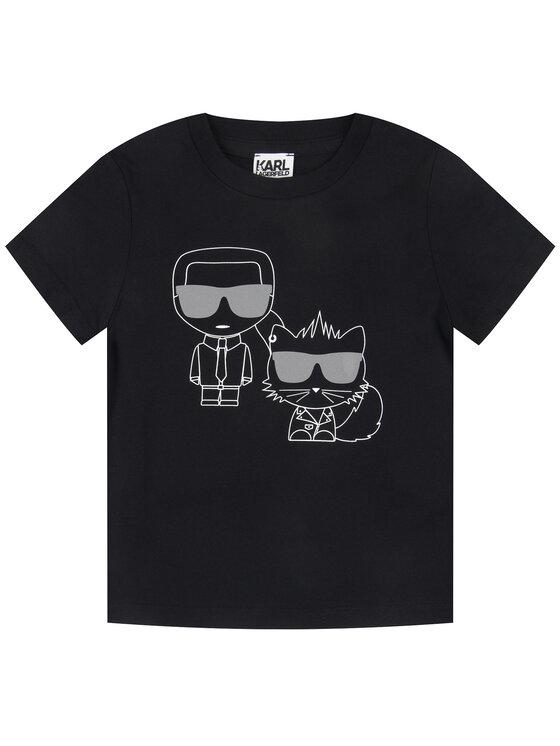 KARL LAGERFELD KARL LAGERFELD T-Shirt Z25224 M Schwarz Regular Fit