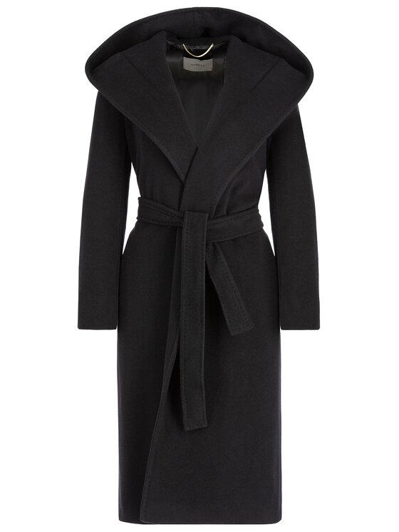 Marella Marella Płaszcz wełniany 30160196 Czarny Regular Fit