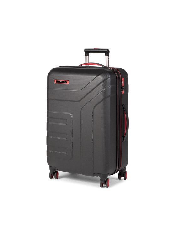 Travelite Didelis Kietas Lagaminas Vector 72049-01 Juoda
