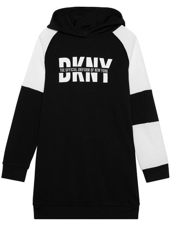 DKNY DKNY Bluza D32758 S Czarny Regular Fit