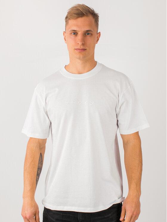 Edwin Marškinėliai Katakana Embroidery Ts I026745 TH372M4 02TT Balta Regular Fit