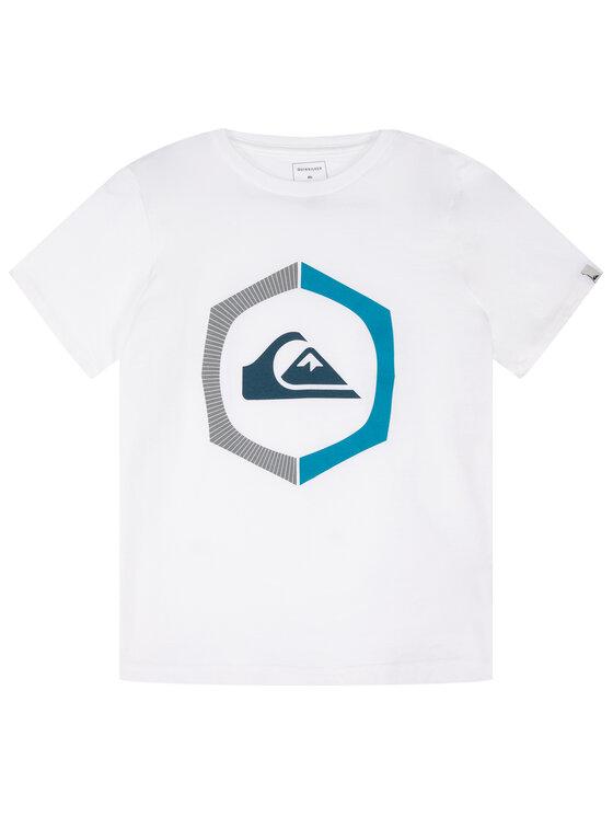 Quiksilver Quiksilver T-Shirt Sure Thing EQBZT04140 Biały Regular Fit