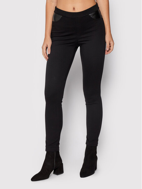 DKNY DKNY Leggings P8RV9CDJ Crna Slim Fit