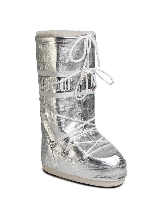 Moon Boot Sniego batai Classic 50 Crocodile 14025600001 Sidabrinė