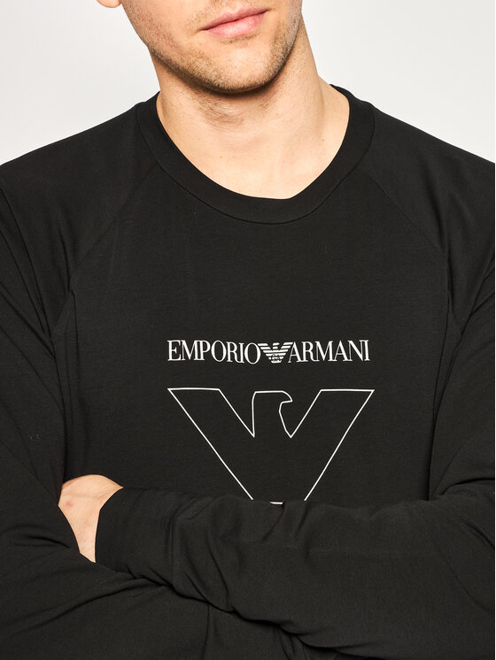 Emporio Armani Underwear Emporio Armani Underwear Bluză 111062 0P575 00020 Negru Regular Fit