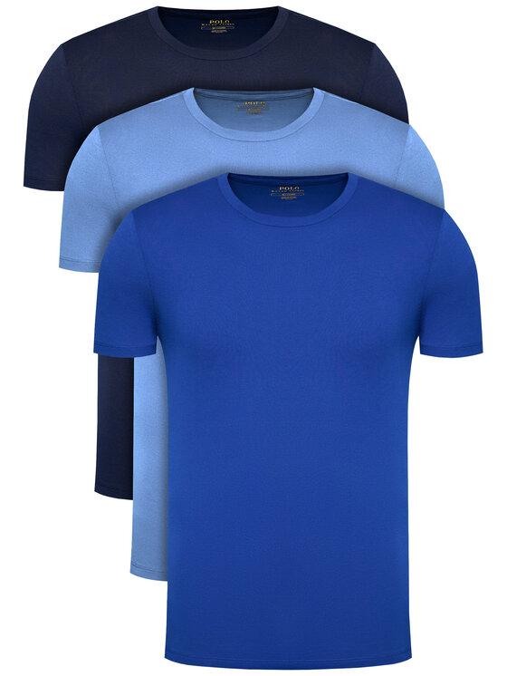 Polo Ralph Lauren 3 marškinėlių komplektas Classic Crew 714830304006 Tamsiai mėlyna Regular Fit