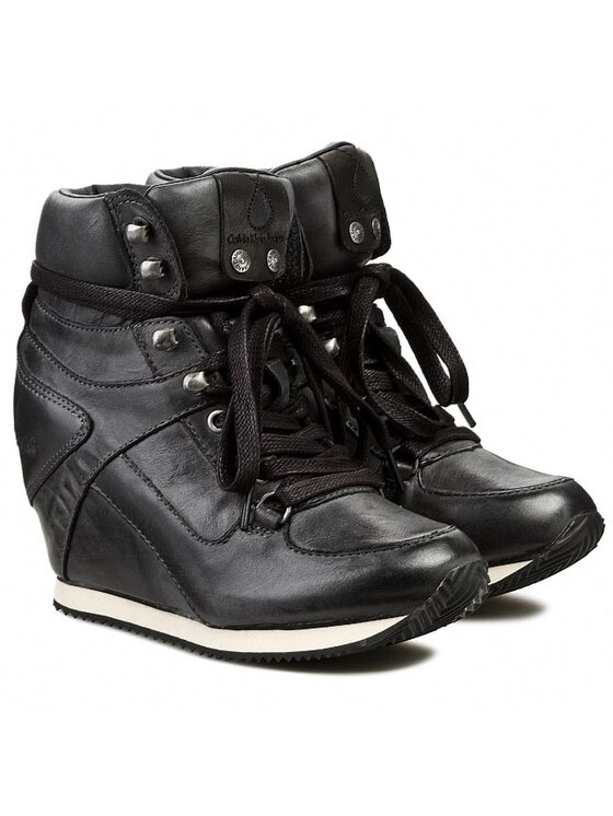 Calvin Klein Jeans Calvin Klein Jeans Sneakersy Vania Tumbled Calf RE8769 Czarny
