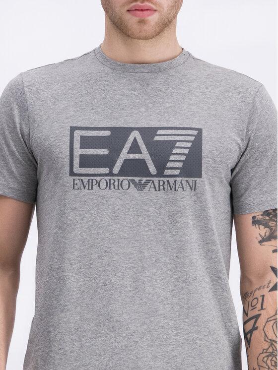EA7 Emporio Armani EA7 Emporio Armani T-Shirt 3GPT62 PJ03Z 3905 Szary Regular Fit