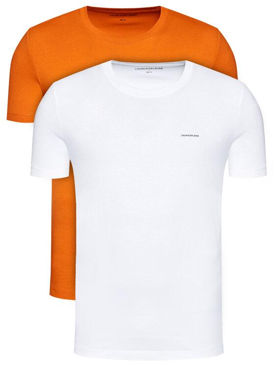 Calvin Klein Jeans 2 marškinėlių komplektas J30J315194 Oranžinė Slim Fit