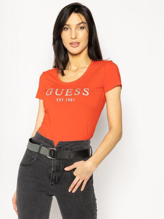 Guess Guess Тишърт Femme W0GI0J J1300 Червен Regular Fit