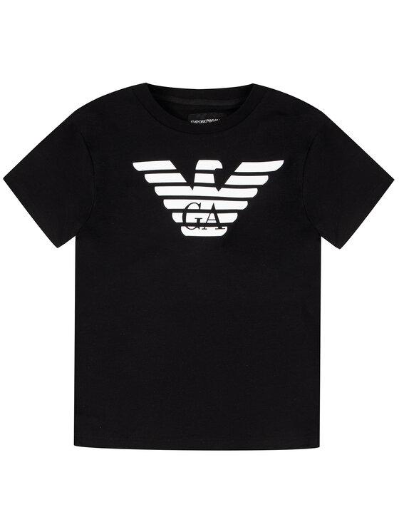 Emporio Armani Emporio Armani T-Shirt 8N4T99 1JNQZ 0999 Μαύρο Regular Fit