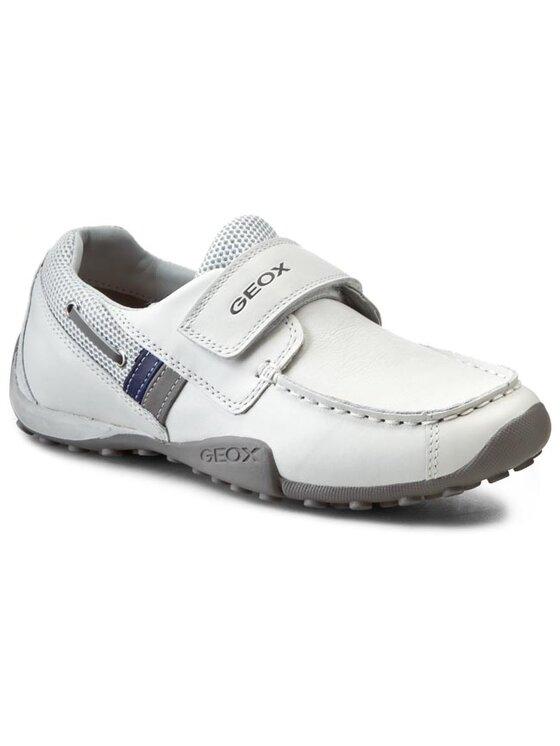 Geox Geox Κλειστά παπούτσια J Snake Moc A J5216A 04314 C0284 Λευκό