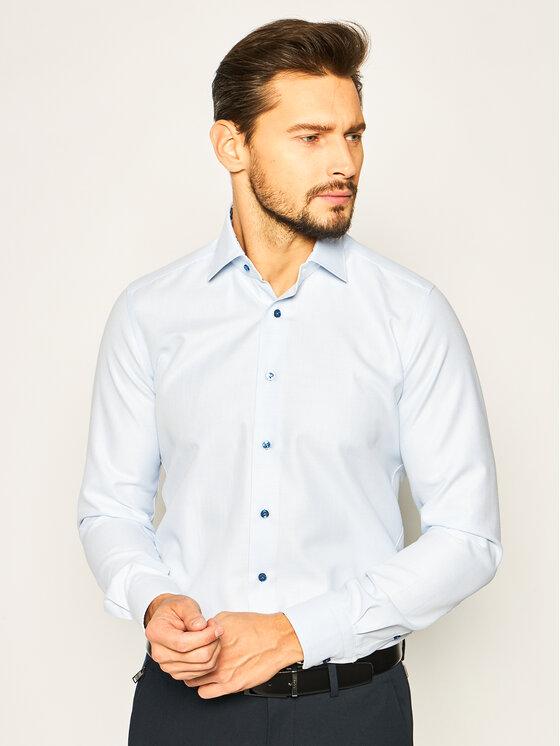 Emanuel Berg Marškiniai Mr.Crown PEB47813 Mėlyna Slim Fit