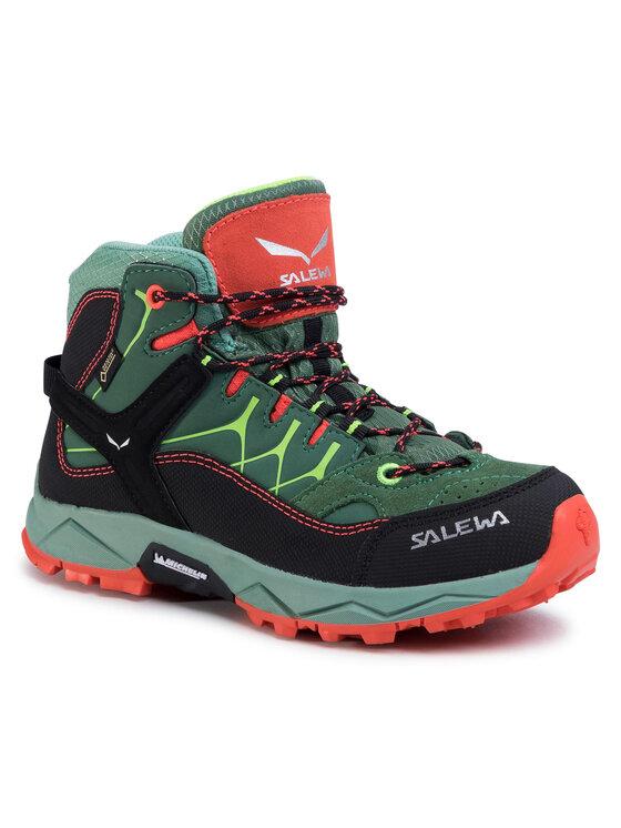 Salewa Turistiniai batai Jr Alp Trainer Mid Gtx GORE-TEX 64006-5960 Žalia