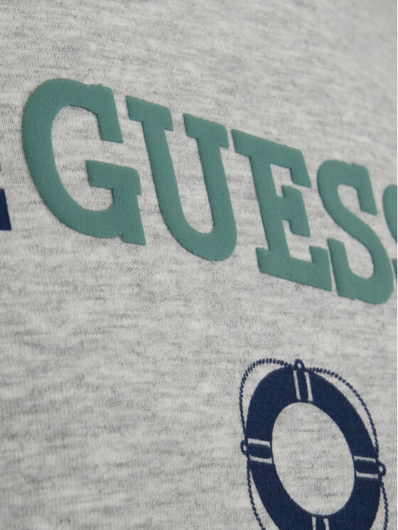 Guess Guess T-Shirt M92I33 J1300 Szary Super Slim Fit