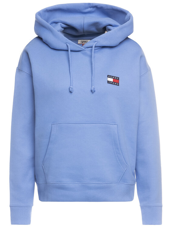 Tommy Jeans Tommy Jeans Mikina Badge DW0DW07787 Modrá Regular Fit