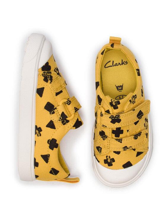 Clarks Clarks Teniși City FlareLo T 261410896 Galben