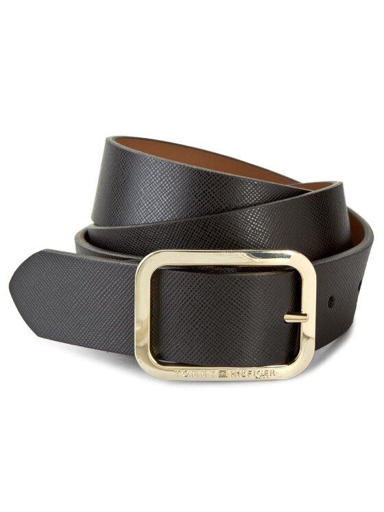 Tommy Hilfiger Tommy Hilfiger Дамски колан Modern Leather Belt 3.0 Rev AW0AW02987 75 Черен