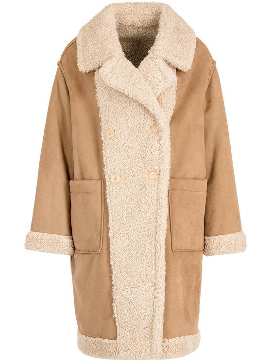 My Twin My Twin Zimný kabát 192MT2020 Béžová Regular Fit