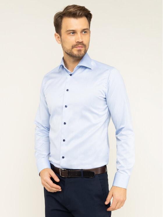 Eton Marškiniai 100000474 Mėlyna Slim Fit