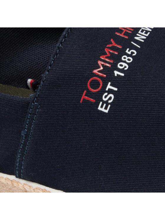 Tommy Hilfiger Tommy Hilfiger Espadryle Sporty Seasonal Espadrille FM0FM03712 Granatowy